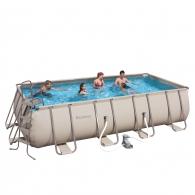 Set piscina cu schelet metalic party pool 488x274x122 cm for Piscina 488x274x122