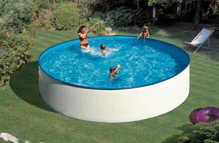 Piscina metalica pontaqua 4 6 x 1 2 m piscine familiale for Piscina metalica