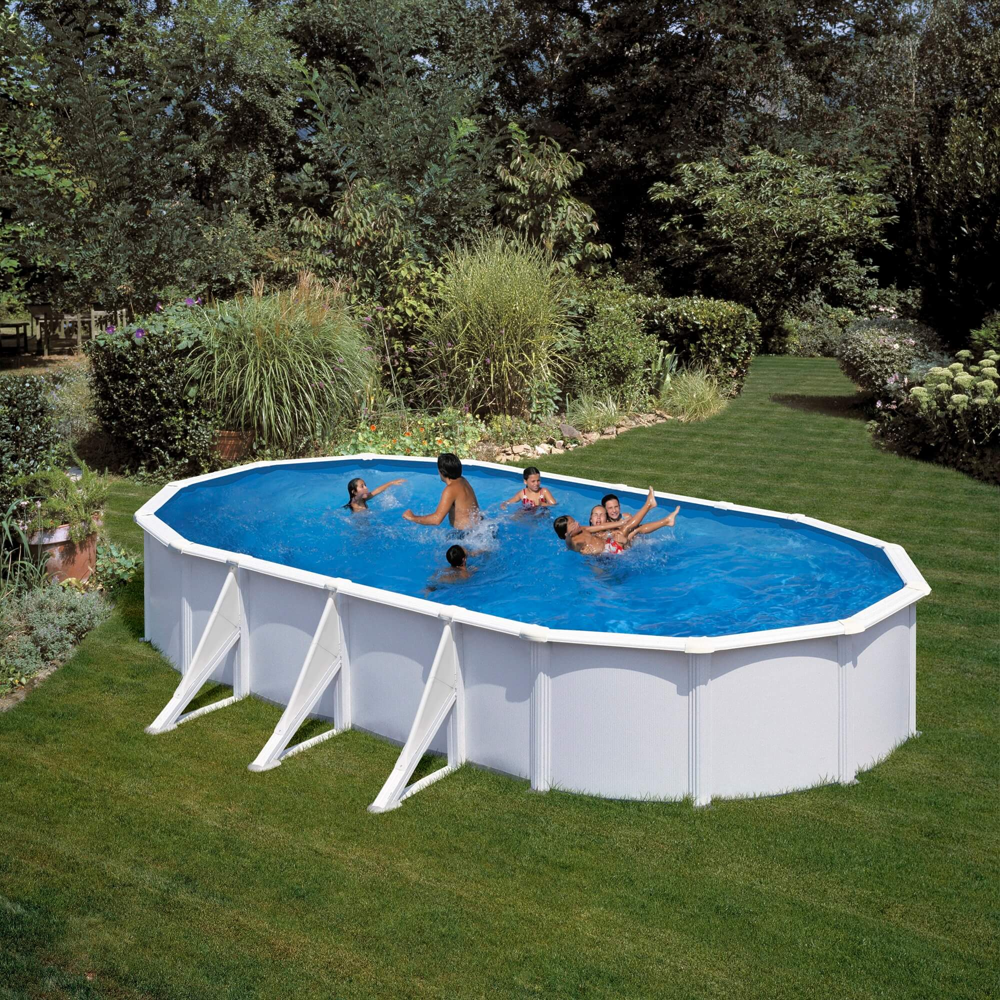 Set piscin pontaqua gre 7 3x3 75x1 2m piscine familiale for Piscine 3x3